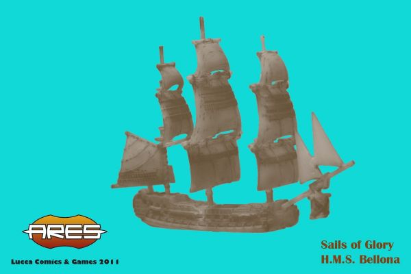 Clicca per immagine full size  ==============  Prototipo Sails of Glory presentato durante Lucca Games 2011.